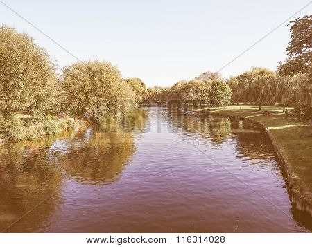 River Avon In Stratford Upon Avon Vintage