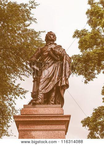 Mendelssohn Denkmal Leipzig Vintage