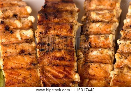 Delicious grilled salmon fillet.