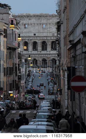 Via Degli Annibaldi In Rome