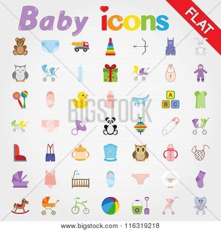 Baby. Icon set.