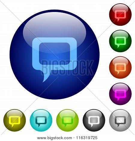Color Comment Glass Buttons