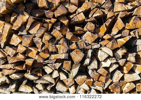 Stapled Fire Wood