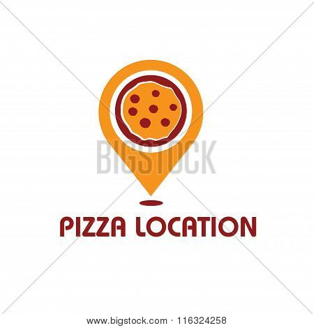 Pizza Location Concept Vector Design Template