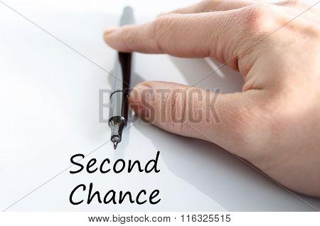 Second Chanse Text Concept