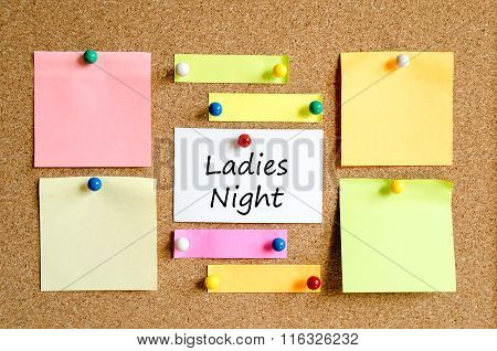 Ladies Night Sticky Note Text Concept