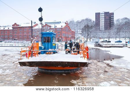 Passengers Of Fori, Light Traffic Ferry, Turku