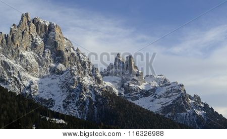 Dolomites, looking south from San Martino di Castrozza