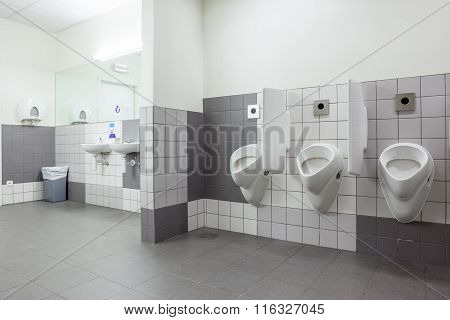 Urinal And Sink