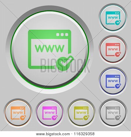 Domain Registration Push Buttons
