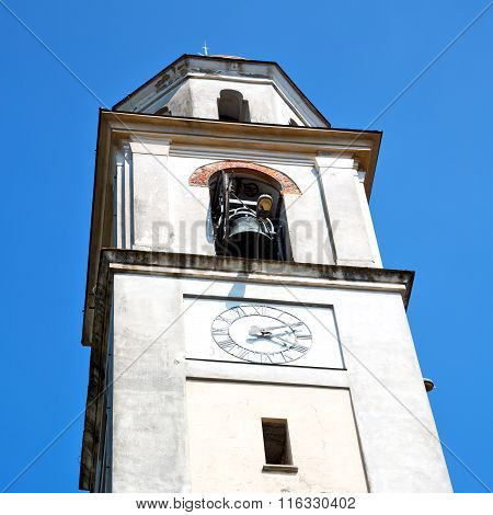 Building  Clock Tower In Italy Europe Old  Stone And Bell
