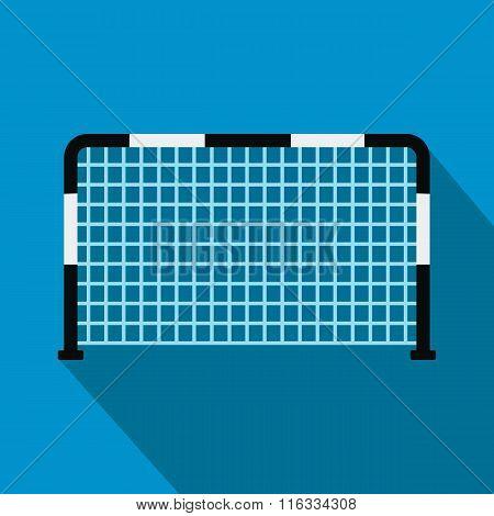 Soccer goal flat icon