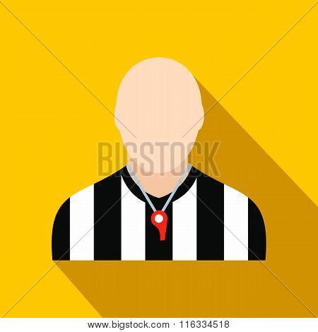 Referee flat icon