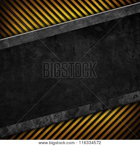 iron template with warning stripe