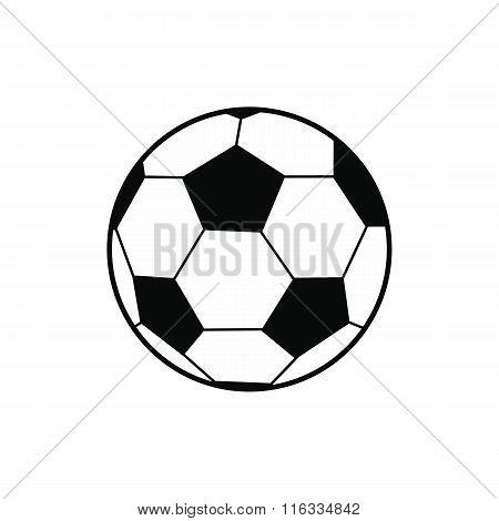 Soccer ball black simple icon