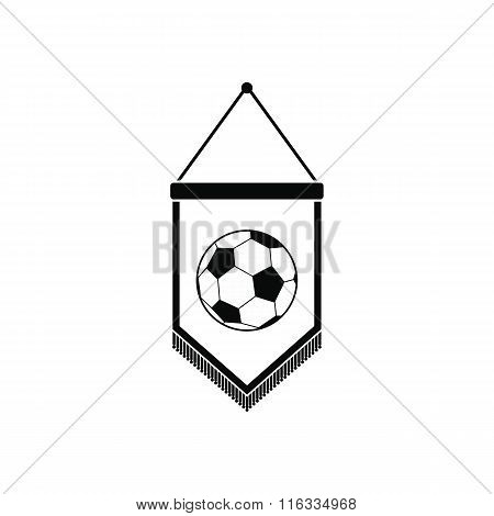 Pennant with soccer ball icon