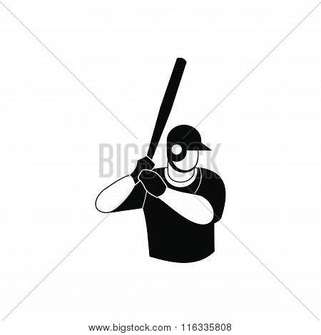 Baseball player black simple icon