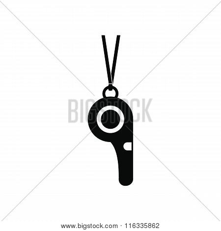 Sport whistle black simple icon
