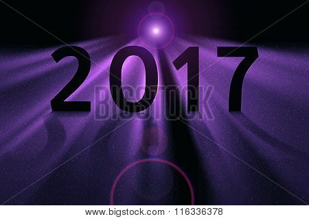 Purple Concept For 2017 In Deep Space