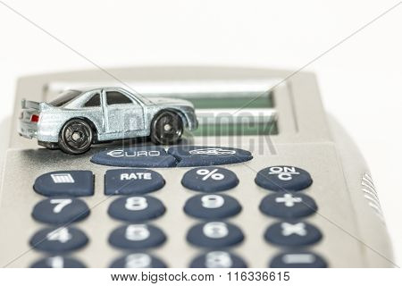 Concept of car insurance or sales