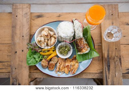 Set of Thai foods Northern style
