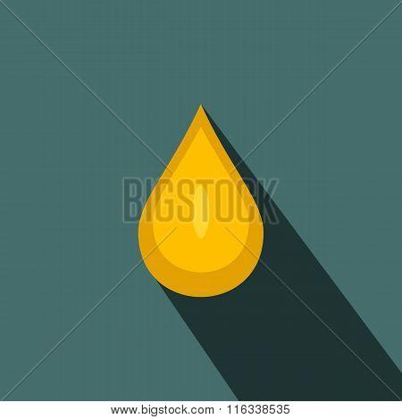 Yellow honey drop flat icon