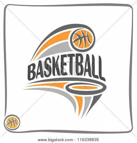 Abstract image of a basketball theme