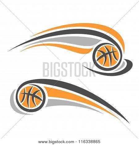 Vector image of a basketball ball