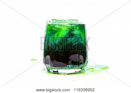 Soda drinks isolated against a white background
