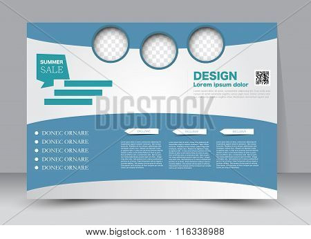 Flyer, Brochure, Magazine Cover Template Design Landscape Orientation For Education, Presentation, W