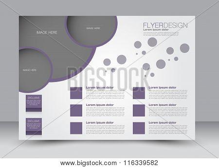 Flyer, Brochure, Magazine Cover Template Design Landscape Orientation For Education, Presentation, W