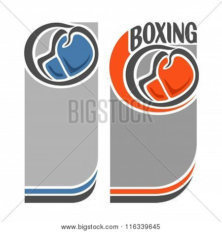Vector images for text on the theme of boxing