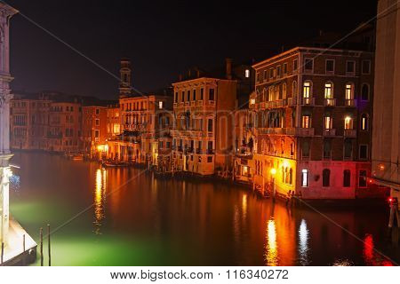 Reflection In Venice Grand Canal