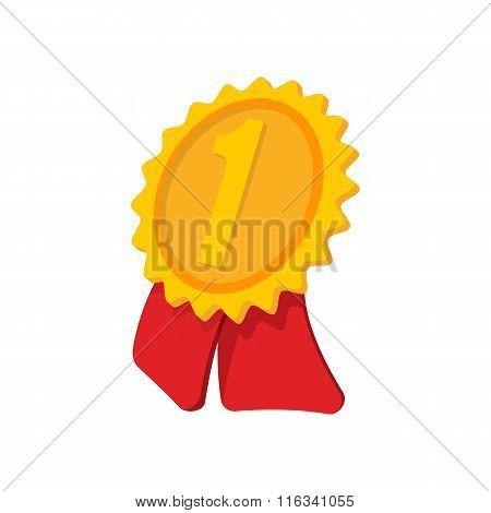 Gold award ribbon cartoon icon