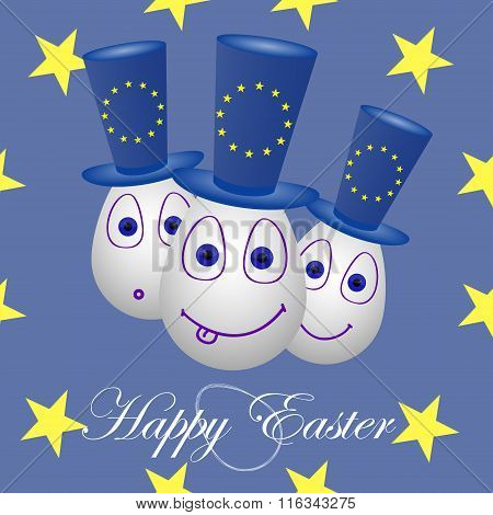 Card Happy Easter For The European Union