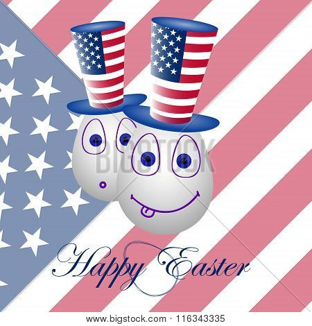 Card Happy Easter For The Usa