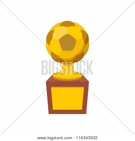 Gold soccer cup cartoon icon