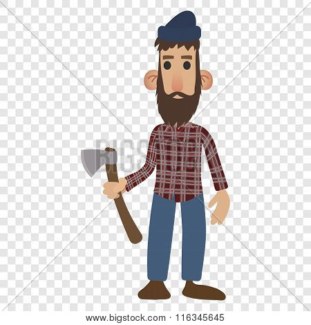 Lumberjack cartoon icon