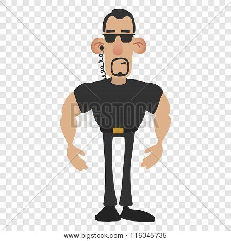 Cartoon security man