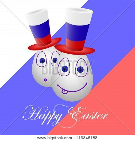 The Festive Card Happy Easter For Russia