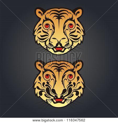 Vintage Tiger Head