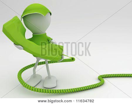 . Telecom concept 3d render in