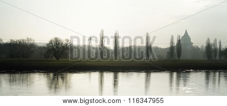 the river Elbe near Magdeburg