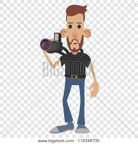 Photographer cartoon icon