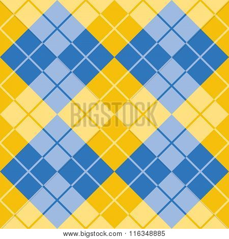 Argyle in Yellow and Blue