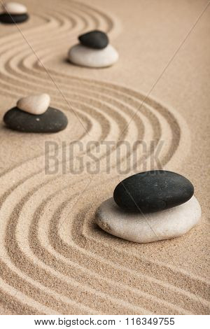 Pyramid  Made Of  Stones Standing On The Sand