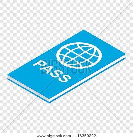 Passport isometric 3d icon