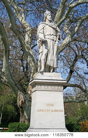Vienna, Austria - April 22, 2010: Statue of Herzog Leopold VI In Vienna