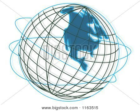 Globe Of The World Usa