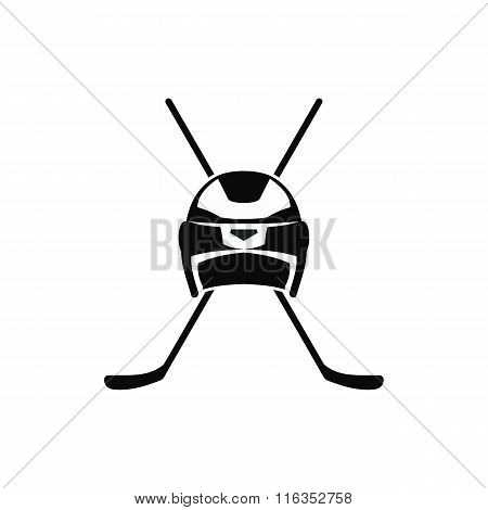 Two crossed hockey sticks icon